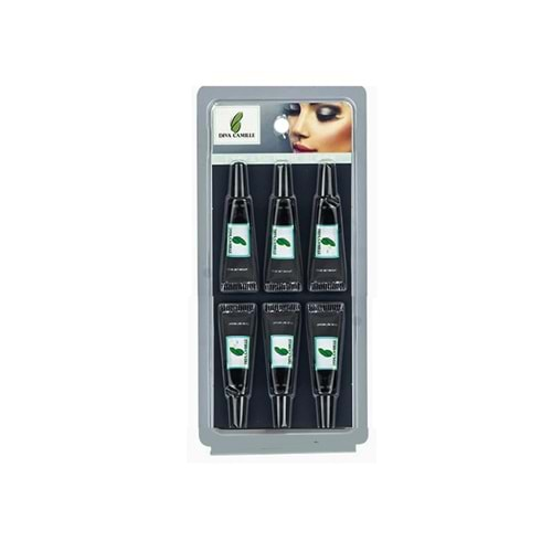 DİVA CAMİLLE EYELASH GLUE SİYAH 1,5 ML. 6'LI SET